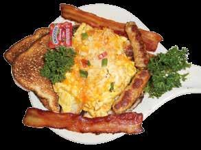 Breakfast Country Morning Favorites 2 eggs cooked just how you like. Served with hashbrowns and your choice of bread. Hickory Smoked Bacon (4)...$9.20 Sausage Links (4)...$8.99 Ham or Linguisa....$9.20 Sausage Patty.