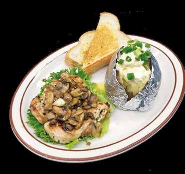 99 Grilled chicken tossed with broccoli and mushrooms in our cheesy alfredo sauce. It s our house favorite. Served with dinner bread. Dinner Bell Favorites Grandma s Homemade Meatloaf...$9.