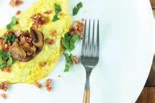 Classic Omelet with Mushrooms and Bacon week 3 day 1 BREAKFAST A3 1 5 minutes 5 minutes 1 slice bacon, chopped 1/2 cup mushrooms, sliced 3 eggs 1/2 tablespoon butter 2.4 2.4 20.3 20.3 18.7 18.7 267.