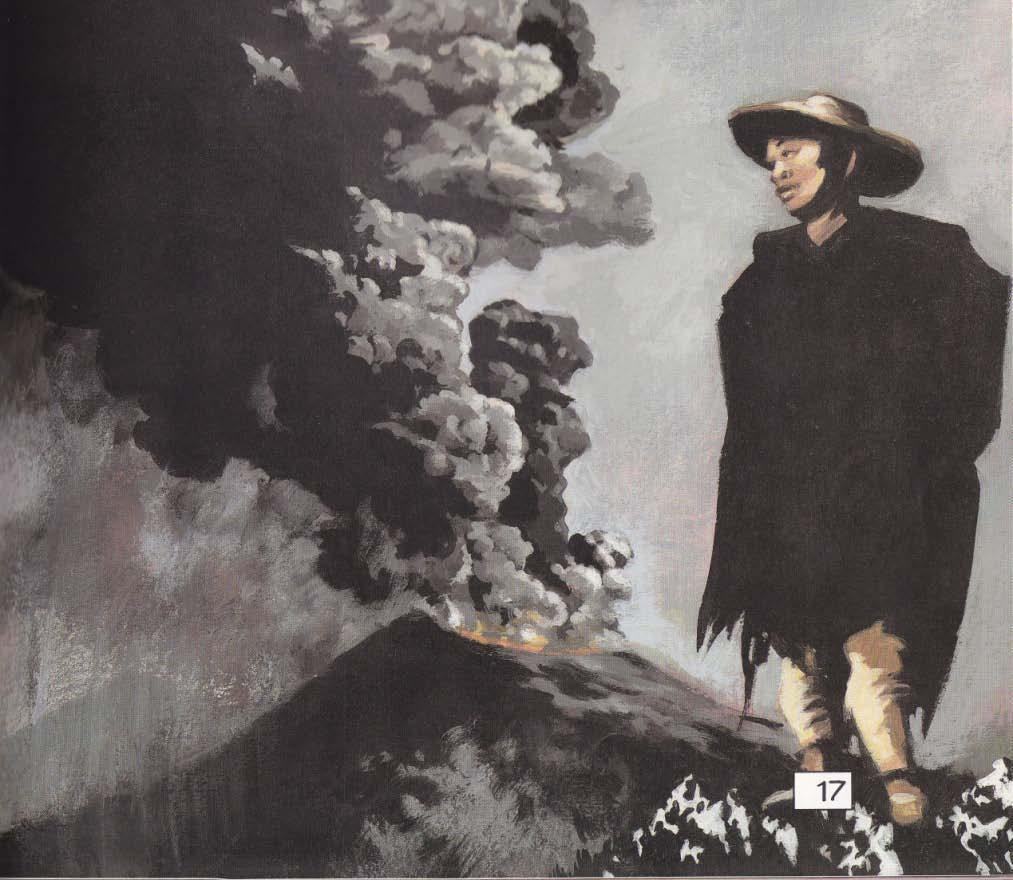 El Cuadro Negro ( black) With an explosion of ash and gases, Paricutín Volcano near the Mexican village San Juan Parangaricutiro, pushed its way out of a cornfield in 1943, growing hundreds of feet