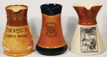 5ins tall, with handle, DEWAR S PERTH WHISKY, detailed picture of the scene titled WHISKY OF HIS FOREFA- THERS, Royal Doulton pm, Very R$400 (500 600) 65.