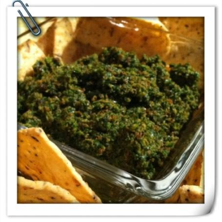 Pesto of the Week toasted sunflower seed and parsley pesto Yield: 8 servings (2 T each) You will need: skillet, spatula, knife, cutting board, mixing bowl, food processor, measuring cups and spoons
