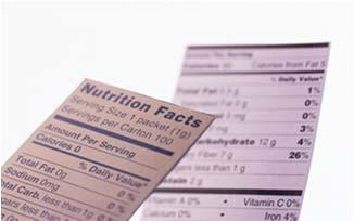 Reading labels INGREDIENT LISTS When reading