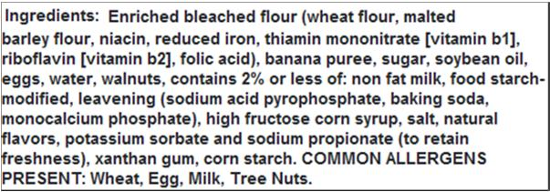 Gordon Experience Food Allergen Awareness Sample lngredient label May Contain Statements Allergen advisory statements FALCPA does not regulate Trace amounts