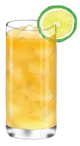 fresh lemon juice, soda