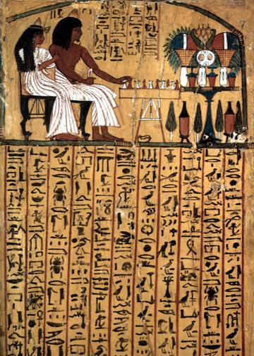 Hieroglyphics In early Egyptian hieroglyphics, created 3100 BC, pictures stood for an idea.
