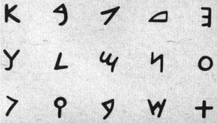 Phoenician alphabet Developed 1250 BC as a means of recording trade transactions-spread throughout the Mediterranean Was a phonetic system: one sign represented