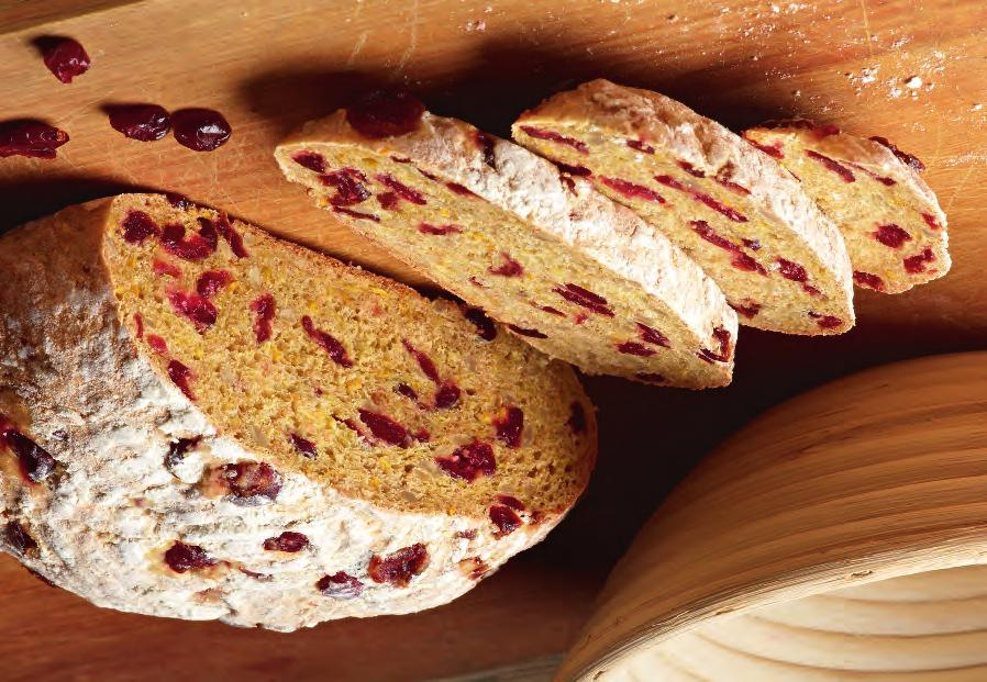 Sunflower Cranberry Loaf DOUGH Wright s Sunflower Bread Mix Oranges Water Cranberries 500g 2 medium 200ml 200g Method (Makes 2 loaves) 1.
