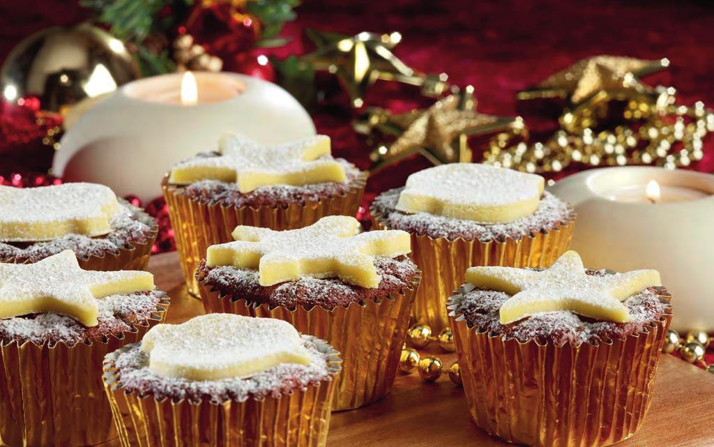 Christmas Cupcakes CAKE Wrights Ginger Cake Mix 500g Water 200ml Vegetable Oil 60 ml Dried Apricots (chopped) 150g Sultanas 150g Currants 100g Glace Cherries (chopped) 100g Dried Cranberries 150g