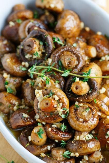 Roasted Mushrooms in a Browned Butter, Garlic and Thyme Sauce 1 lb.