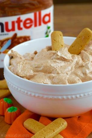 Skinny Pumpkin Nutella Dip 1/2 cup Nutella, softened just a little in the microwave 1/2 cup of pumpkin (100% pure pumpkin puree) 1 (8 oz.