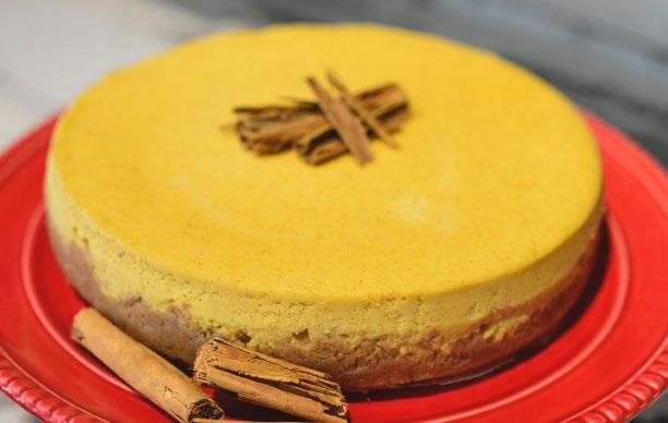PUMPKIN CHEESECAKE 35 Pumpkin Cheesecake INGREDIENTS Cheesecake Crust 2 ½ Cups gluten free cookie crumbs or gluten free graham cracker crumbs 5 Tbsp unsalted butter, melted 1 tsp cinnamon 1 ½ Tbsp