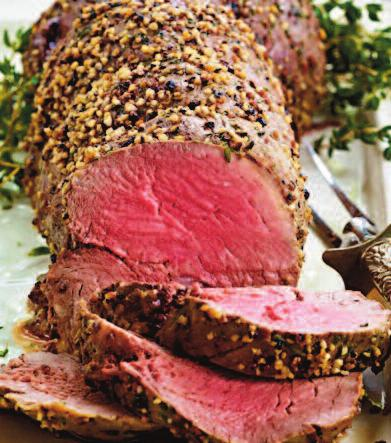 ROAST TENDERLOIN Yield: 8 Servings (6 oz. per serving) TOTAL TIME: 1 hour 30 minutes Trimmed & Tied Beef Tenderloin (about 4 lbs.) 2 Tbsp. Wegmans Basting Oil 2 Tbsp.