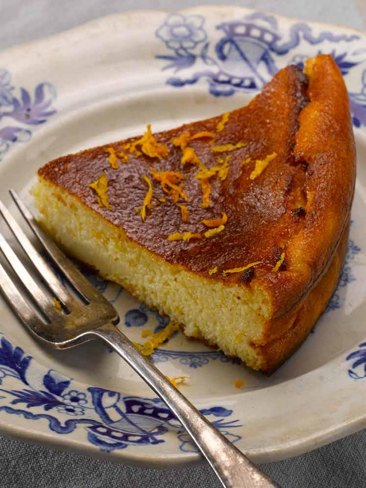 MALI Gâteau de Semoule aux Agrumes Wheat free Semolina and Citrus Cake prep 20 mins/bake 35 mins Although this cake has the consistency of a firm blancmange, it can be sliced and holds its shape well.