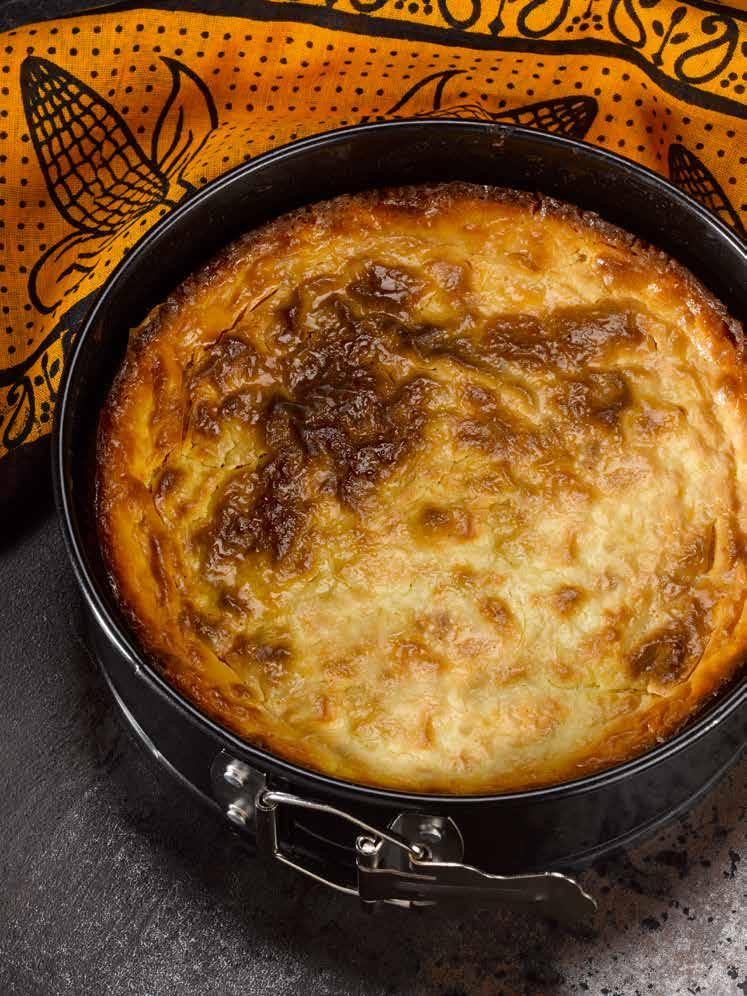 ZIMBABWE Cornmeal Cake Gluten free prep 20 mins/bake 45 mins With its bright yellow color and bubbled surface, this cake looks great on a plate.