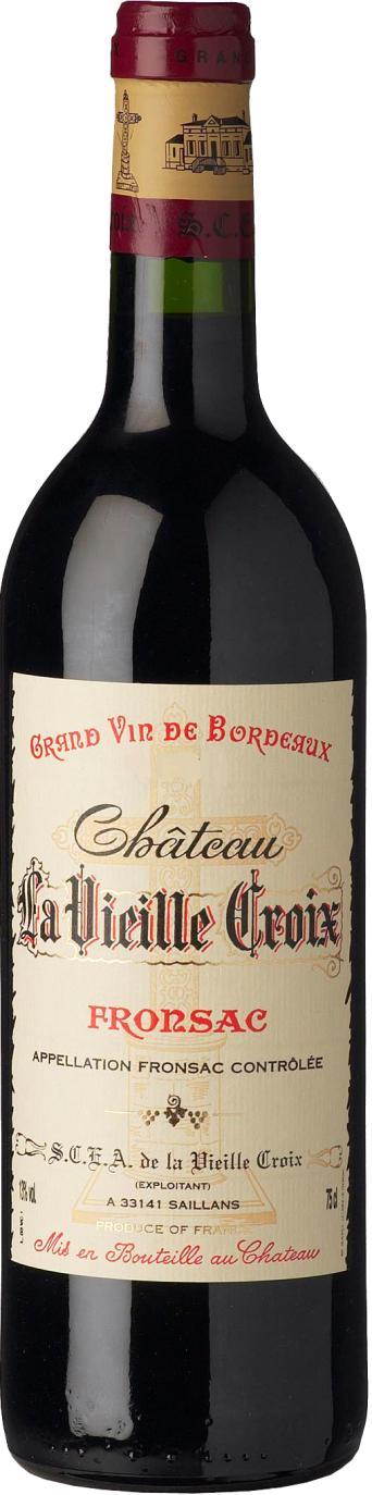 FRONSAC CUVÉE TRADITION 2012 CHȂTEAU LA VIEILLE CROIX REF : BOR111 CUVÉE : Without reaching the balance of the DM sister-cuvée, this wine makes concrete the pure reality of the terroir.
