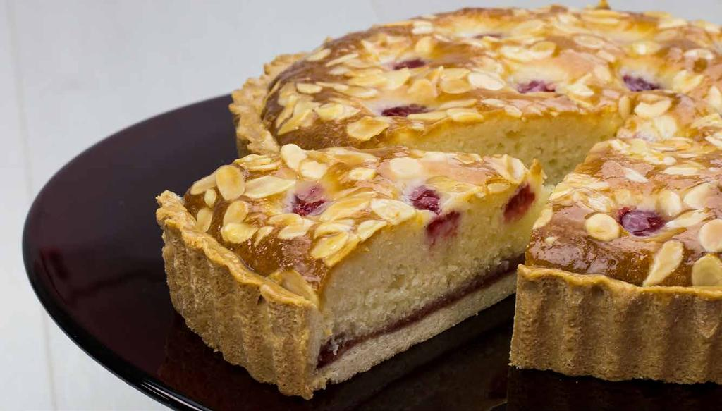 Raspberry Almond Tart Almond paste Fresh raspberries 0.460 kg 0.730 kg 0.760 kg 0.032 kg 4.582 kg Using a beater, blend all ingredients together for 1 minute on slow speed.