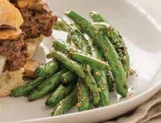 Green Tea Grilled Green Beans 1 pound fresh green beans, trimmed 2 tablespoons olive oil 1 tablespoon Green Tea Peppercorn Seasoning No-stick cooking spray 1. Prepare grill to medium heat.