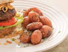 Bayou Glazed & Grilled Potatoes 1½ pounds fingerling or baby red potatoes 1 tablespoon kosher or sea salt ¼ cup Bayou Bourbon Glaze 2 teaspoons Onion Onion Seasoning 1. Prepare grill to medium heat.