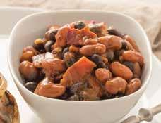 Sweet & Spicy Bayou Beans ½ pound bacon, chopped 1 (15 ounce) can chili beans, undrained 1 (15 ounce) can pinto beans, rinsed and drained 1 (15 ounce) can black beans, rinsed and drained ¼ cup Bayou