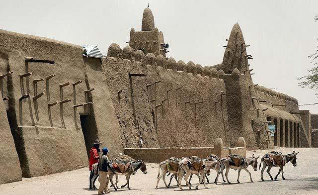 West African Kingdoms City of Timbuktu as center
