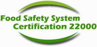 Certificates FSSC 22000 Company Accreditated certificate Place Country Scope Apple, cranberry, blueberry processing for concentrates or juices; bulk preparation packaging and distribution of juices,