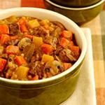 Roasted Vegetable Stew Chop all vegetables into bite sized pieces. Toss with olive oil and garlic. Spread vegetables in a 13 x 9 x 2 glass baking dish.
