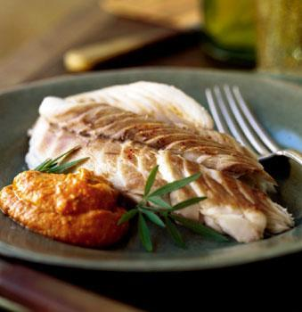 1 pound red snapper fillets (optional: cut into 3 inch cubes or strips) 2 teaspoons powdered rosemary ½ teaspoon black pepper Two fresh lemons (peeled and finely diced) ¼ cup fresh parsley Baked Red