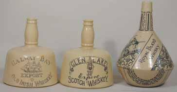 SCOTCH CREAM WHISKY 6,75ins tall, with handle, with Stag tm, H Kennedy pm, minor rim chip, Very, a rare variation R$600 (650-750) 86. BLUE STAR MONOGRAM 7.