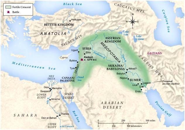 The Ancient Fertile Crescent Area The