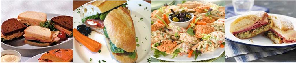 Sandwich Selections and Platters minimum 5 people 1 1/2 sandwiches per person an assortment of traditional fillings - tuna salad, egg salad, salmon salad served on a variety of freshly baked and