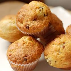 Banana Muffins 1 3/4 cups flour 3/4 cup brown sugar 1 tsp baking powder 1 tsp baking soda 1/2 tsp salt 1