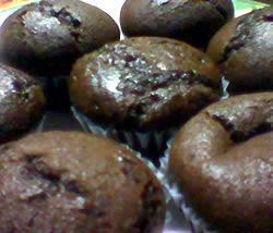 Chocolate Muffins 2 cups all-purpose flour 3/4 cup unsweetened cocoa powder 1 1/2 cups white sugar 1/2 tsp baking soda 2 tsp baking powder 1/2 tsp salt 1 1/2 cups milk 1 egg 3 tbs