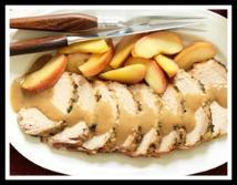 5/4/13 PorkLoinwithApples : Use remaining 2 servings of pork loin for a SuperFast Cuban Sandwich on a busy night.