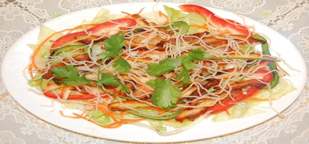 Salad Grilled Chicken Salad - Go i Ga Nươ ng, contains lettuce tossed with our Viet's home-made salad dressing,