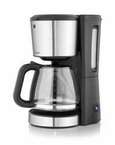Removable filter insert Drip-stop and overflow protection Illuminated start button Automatic switch-off after brewing 1,000 watts of power Aroma Coffee Maker Glass Item no.