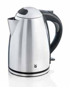 kettle with separate base including cable storacke Illuminated interior Water level indicator on the outside Removable, washable lime scale filter Single-handed lid opening at the touch of a button