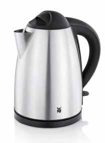 2 l Concealed stainless steel heating element Cordless kettle with separate base, including cord wrap Illuminated water level indicator on the outside Removable, washable limescale water filter