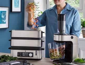 Trends in WMF small electrical appliances. STRICTLY HOMEMADE 40 Smart solutions for the home, ingredients fresh from the market and homemade dishes are still in vogue.