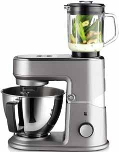 8 l mixer attachment made from glass for preparing smoothies and such like Holder for attaching optional accessories Timer function with LC display for precision cooking Release button for easy