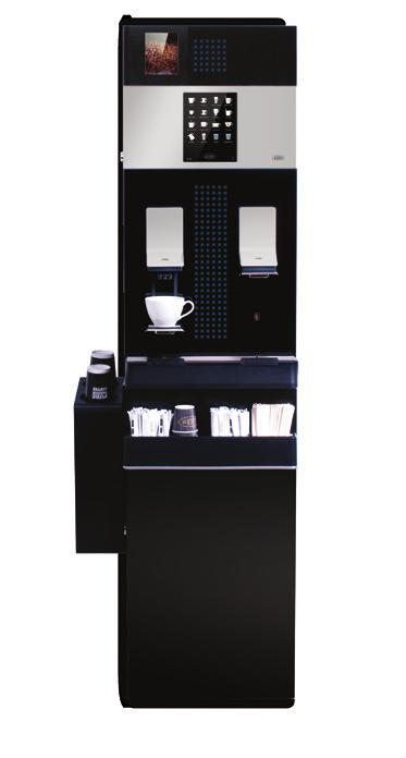 sparkling water (option) Base Cabinet (option) BEAN HOPPER MF13 models feature an auger-fed, illumi nated 2kg (5 litre) bean hopper to ensure lots of fresh ground coffee is delivered between refills.