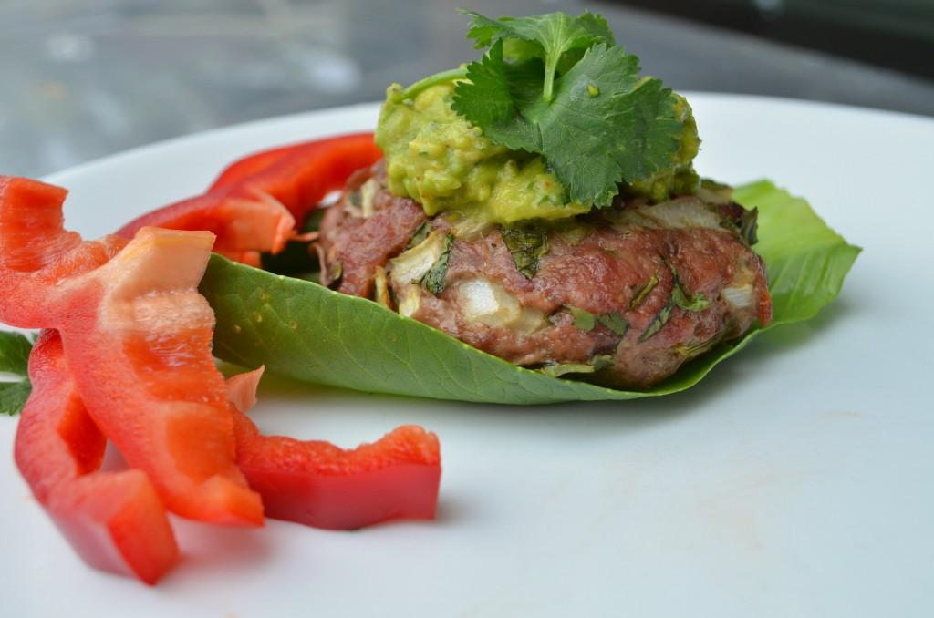 Cilantro Turkey Burgers Total Time: 20 minutes Cook Time: 20 minutes Calories 287 Carbohydrate 4g Protein 57g Fat 5g 2 pound(s) turkey, ground 2 cup(s) cilantro, fresh chopped / 2 medium onion(s),