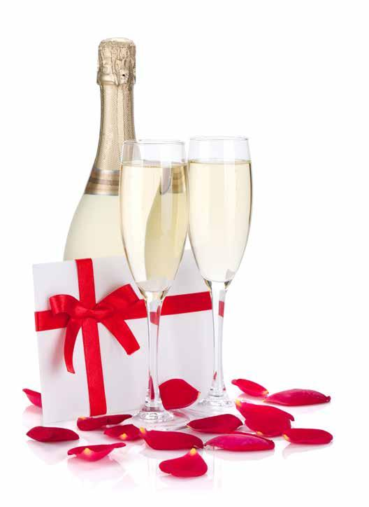 Drinks Menu Option 1 (included in all packages) Arrival Drink of sparkling wine or bottled beer 1x 175ml Glass of red, white or rose Toast Drink of Prosecco 14.
