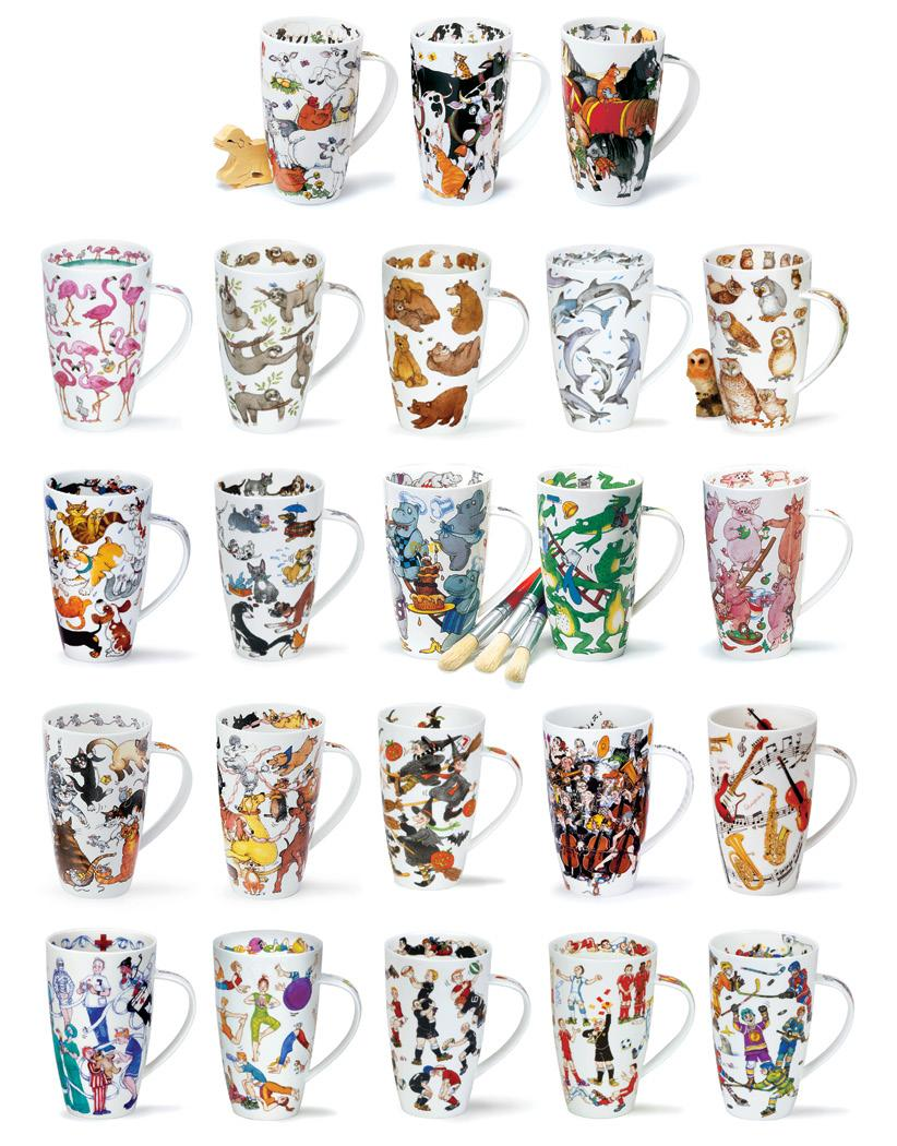 HENLEY 0.6L - fine bone china A collection of entertaining designs by artist Cherry Denman.