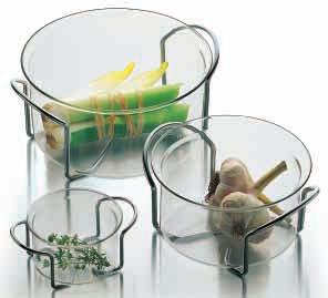 HOT POT SET glass bowls with metal holders 0.25 l/8 oz, 1.0 l/34 oz, 2.