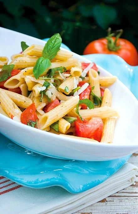Fresh Tomato Pasta Have a pasta party with this no-cook tomato sauce. Multigrain pasta and fresh tomato sauce make this a fast, easy and healthy pasta recipe.