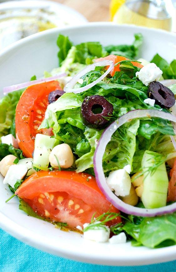 Greek Salad This healthy salad comes straight from the islands of Greece. This tasty Greek salad is a classic Mediterranean diet recipe that s easy and delicious.