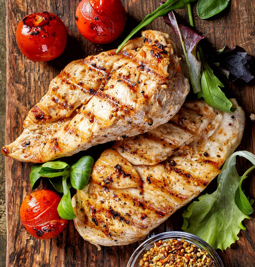 PORK & POULTRY (CONTINUED) Lemon-Caper Chicken 1 TBSP lemon juice 2 TBSP capers 1 TBSP olive oil 1/8 tsp pepper 2 TBSP butter 2/3 cup vegetable broth 2 chicken breast filets Season chicken with salt