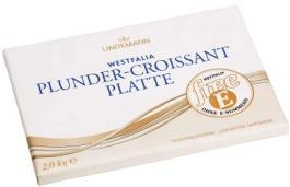 0723 Westfalia Plunder-Croissant-Platte freee Premium margarine for the production of fine croissants, Danish pastries and puff pastries.