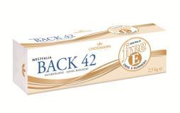 0387 Westfalia Back 42 freee Premium baking margarine for the production of fine yeast doughs, short crust pastries and crumbles. Art.-no.